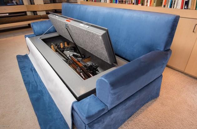 сейф в диване